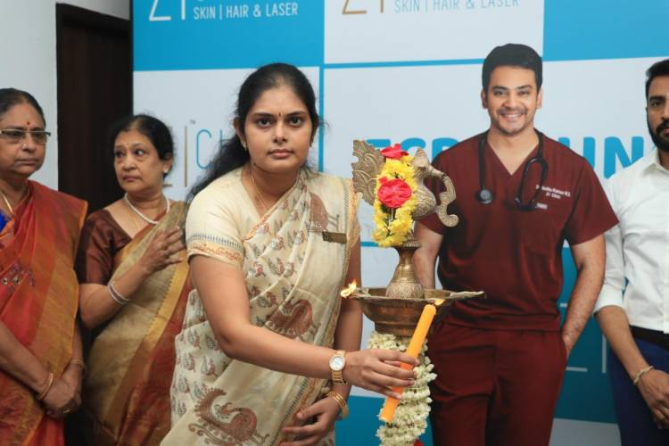 Herewith sending the News & Stills of Dr Sethuraman's Zi Clinic -ECR Branch launch by Actor Santhanam