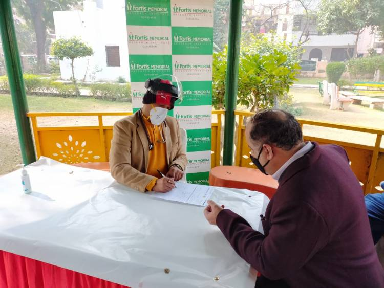 'Super Specialty Health Camp' organized to felicitate the Residents Welfare Association