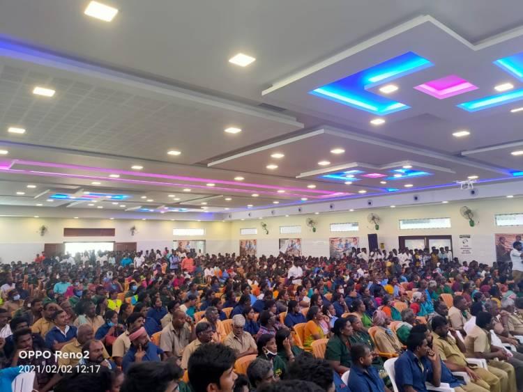 தருமபுரி மாவட்டத்தில் தளபதி விஜய் அவர்களின் பெயரால் தூய்மைப்பணியாளர்களுக்கு மாபெரும் நலத்திட்ட உதவிகள் வழங்கும் விழா