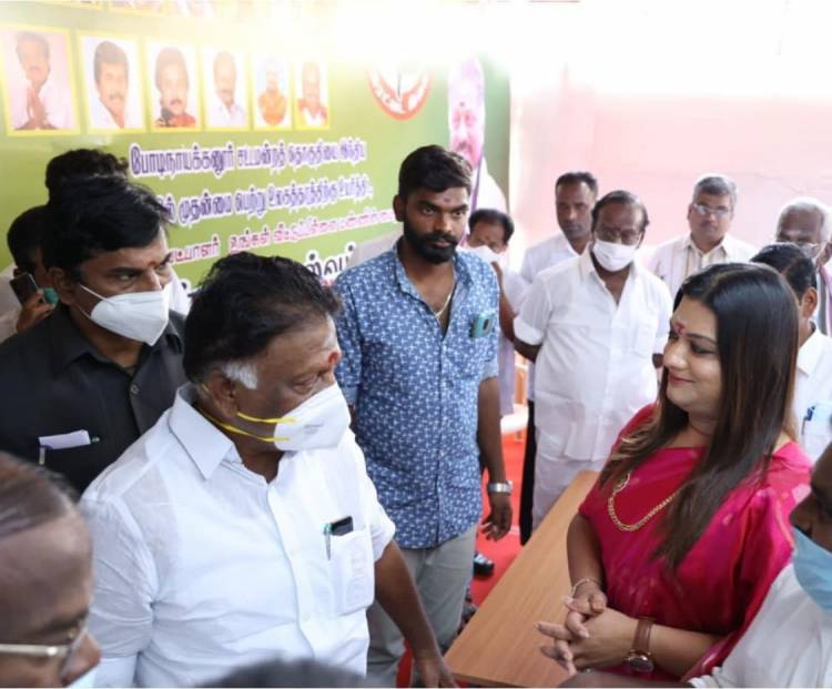AIADMK star campaigner Apsara Reddy's Election campaign at  Theni district.