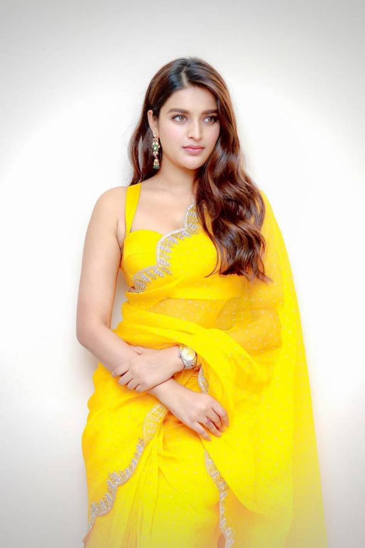 Kudos Actress @AgerwalNidhhi have donated Rs 1,00,000/- Lakh to @CMOTamilnadu 's Chief Minister Public Relief Fund